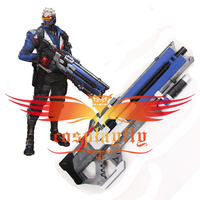 Hot Game OW Over Soldier 76 Weapon Cosplay PVC Prop For Halloween Easter Cool Blue Gun Men Male Battle COS Use Heavy Pulse Rifle