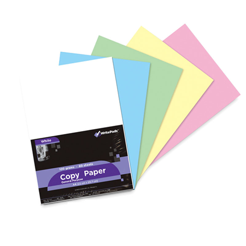 Hot DIY Color paper A4 Origami paper 100 sheets Red Pink Green Blue 80G copy paper Office School Supplies Writing Pads gift