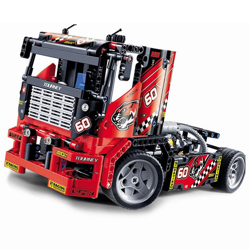 Decool-3360-The-Race-Truck-Car-608Pcs-Technic-Series-Transformable-2-in-1-Models-Building-Blocks