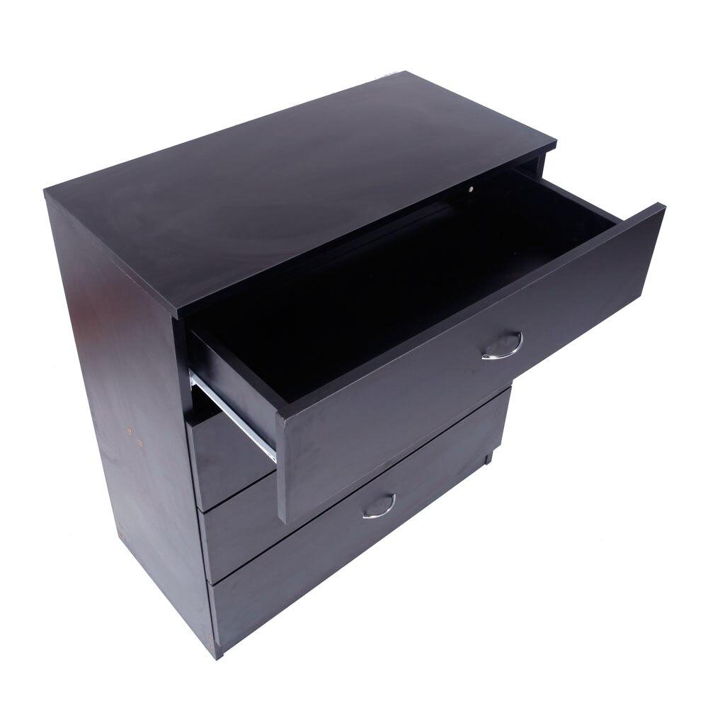 MDF bois Simple 4 tiroirs commode meuble noir livraison directeMDF bois Simple 4 tiroirs commode meuble noir livraison directe