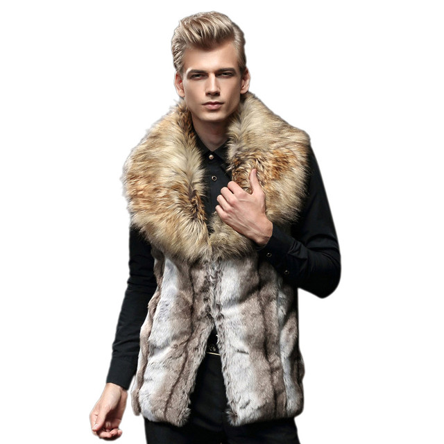 Plus Size Winter Men Fashion Warm Faux Fur Sleeveless Vest Jacket Male Boy Thermal Thick Coat Long Waistcoat Gilet Outwear Nov30