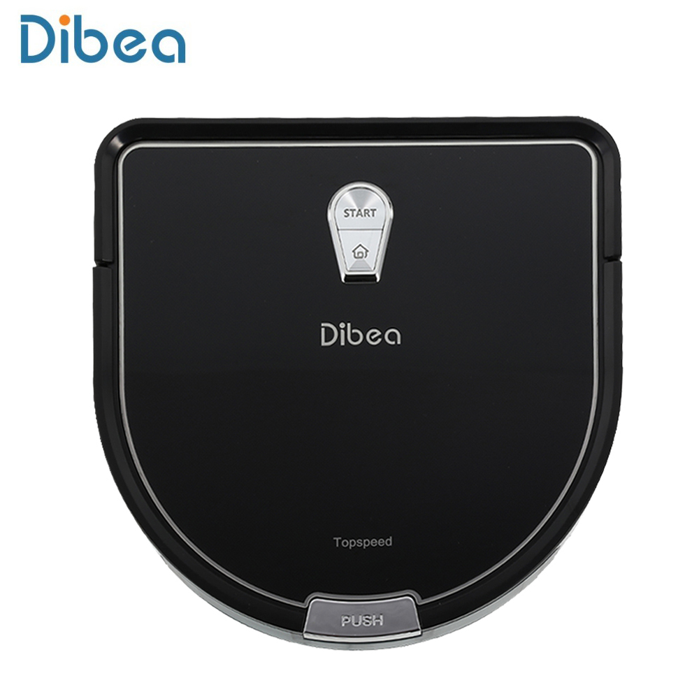 Dibea Household Vacuum Cleaner Aspirator D-shape Ultra-slim Sweeper Robot Vacuum Cleaner with Wet Mopping ecovacs dd35 robot vacuum cleaner with self charge wet mopping intelligent robot household automatic mopping cleaner