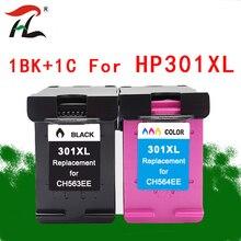 YLC 301XL Compatible ink cartridge for HP 301 CH563EE CH564EE Deskjet 1000 1050 2000 2050 2510 3000 3054