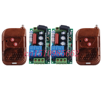 220V 1CH 10A Livolo Radio Wireless Remote Control Switches 2 Receiver 2 Transmitter Learning Code Automation
