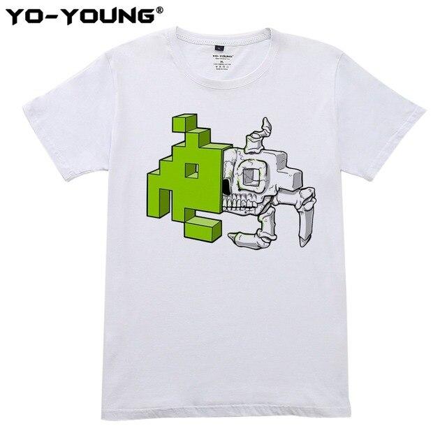 Summer Men T Shirts Space Invader Anatomy Design Digital Printed 100