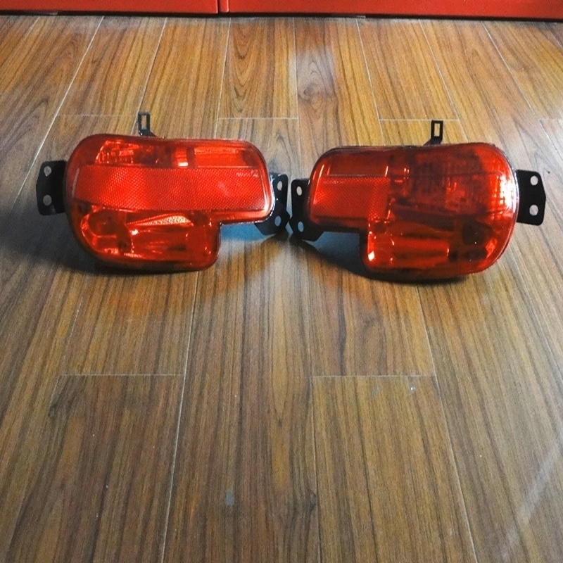 1 Pair Red Tail Rear Bumper Fog Lamps lights Without Bulb For Peugeot 408 2011 1pcs right side tail rear bumper fog light lamp rh without bulb for peugeot 408 2013