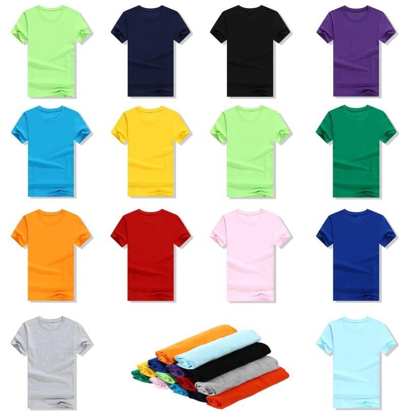 En blanco cuello redondo publicidad camisa actividad cultura Camiseta de manga corta ropa de trabajo