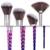 De'lanci 8 unids puff mango espiral de silicona cosmética maquillaje herramientas pinceles de maquillaje en polvo contorno fundación eyeshadow brush set