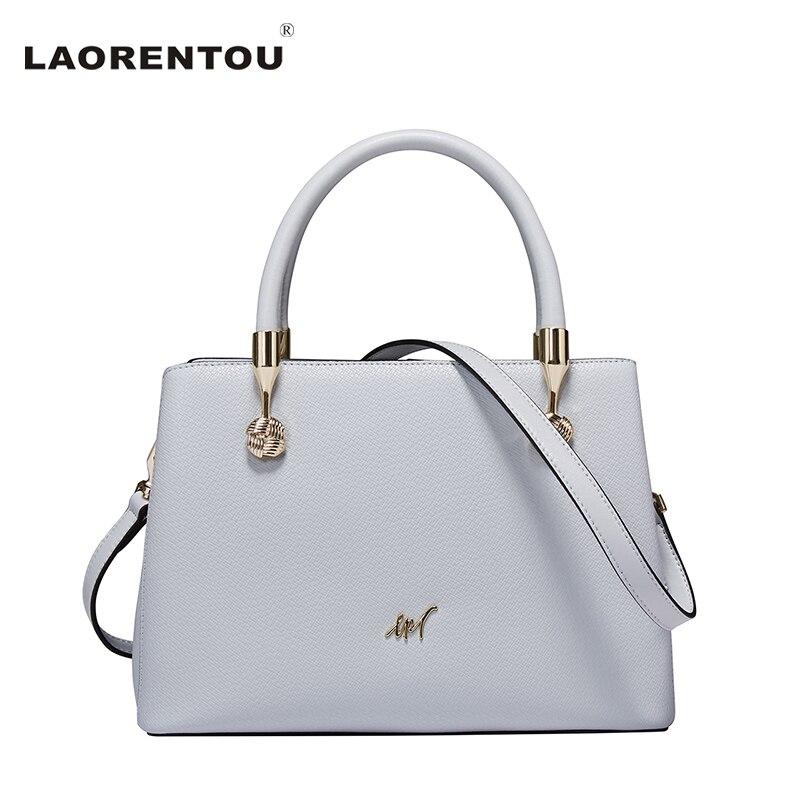 ФОТО Laorentou Fashion Luxury Top Handle Shoulder Women Crossbody Bag Brand Leather Female Bag Cowhide Leather Women Hand Bag N48