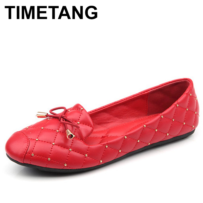 TIMETANG Female Round Head Flat Shoes Fashion Bow Ballet Flats Patent Leather Flat Heel Shoes Shallow Mouth Soft Casual  C129 цена и фото