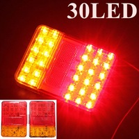 Best Quality Auto Parts A Pair 12V 30 LEDs Taillight Truck Lamp Rear Tail Trailer Lights