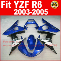 Hot ABS plastic motorcycle parts for YAMAHA R6 fairing kits 2003 2004 2005 blue YZF R6 03 04 05 fairings set