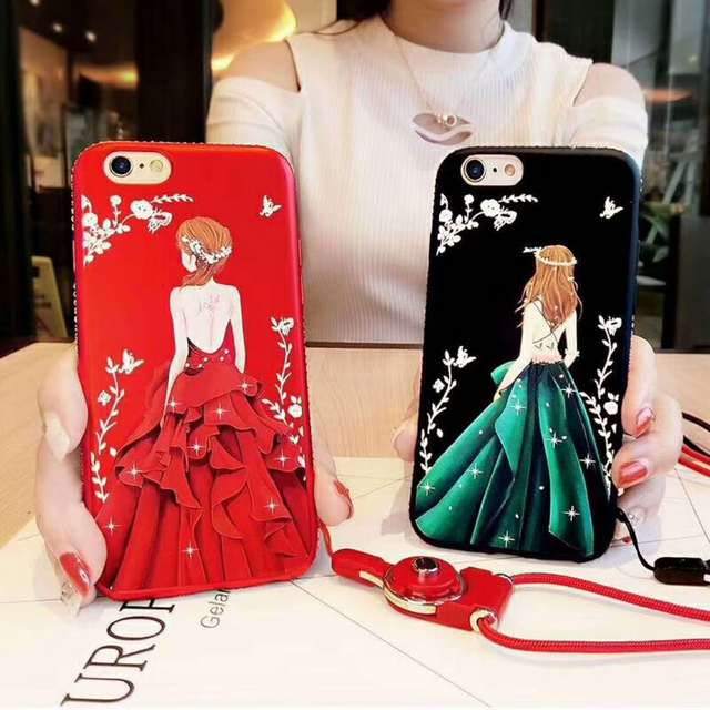 check out 595bc 2a857 US $1.99 |Bling Luxury Diamonds Frame Phone Cases for Vivo Y53 Beautiful  Girl Figures Printed Soft Couque Fundas for Vivo Y53 Fashion Bag-in ...