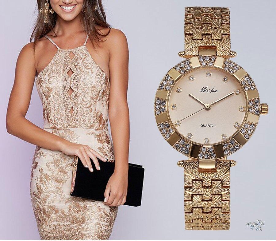 e15c7d366c0f Fox marca luxuly mujer RelojesReloj de oro cuarzo reloj de pulseraMejor  regalo para amigos familia brithday y usted mismo y así sucesivamenteSólo  para ti!