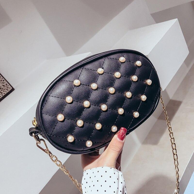Coreana Di black Messaggero Tasche Spalla 2018 Borsa Personalità Modo Nuovo Sacchetto Ling Pink Controllare Versione Della beige Selvaggia Del Marea 7I0HFSw