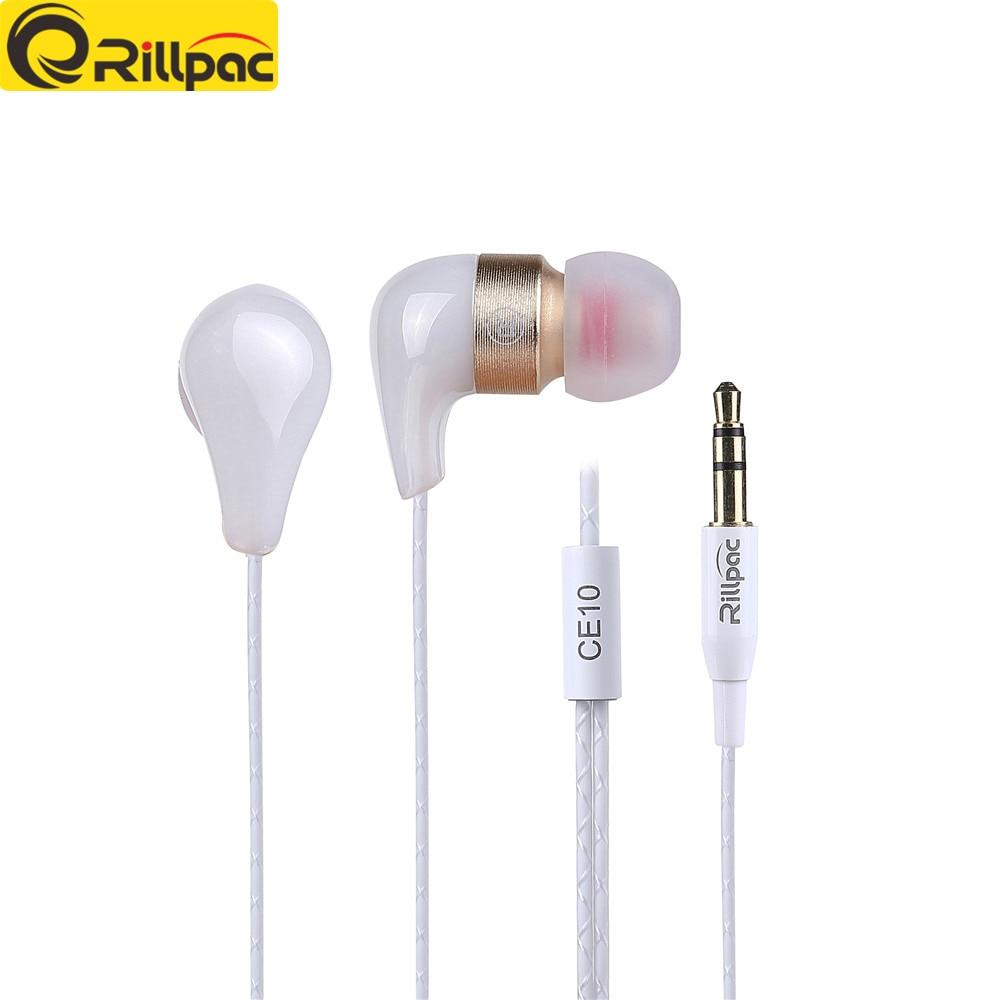 Rillpac CE10 HiFi sluchátka sluchátka Heavy Bass HIFI Sluchátka Sluchátka Izolace do uší Cool Keramické kovové konstrukce HiFi sluchátka