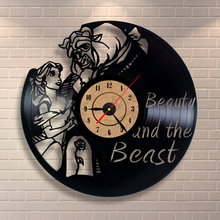 Vinyl Clock Modern Design Decorative Black Art Watch Clock Saat for Living Room Decoration