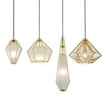 Пост современный creatice diamond модель подвесные светильники изумрудно зеленый и молочно белый оттенок стекла украшения droplight E14 светодиодный ла