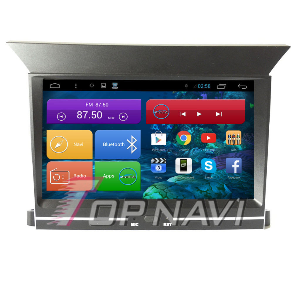 Topnavi 7 Quad Core Android 6.0 Car GPS Navigation for Pilot 2009 2010 2011 2012 Autoradio Multimedia Audio Stereo,NO DVD
