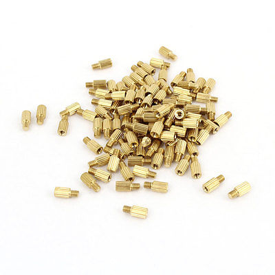 100Pcs Male to Female Threaded PCB Board Brass Pillars Standoff <font><b>M2x5mm</b></font> image