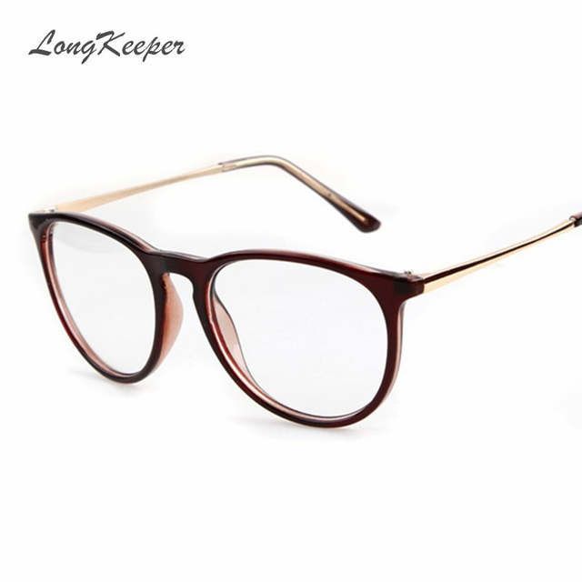 5d337369987 Online Shop LongKeeper Oval Round Glasses Frame for Women Men Star Style  Glasses Female Eyeglasses Clear Lens Optical Sexy Eyewares 607