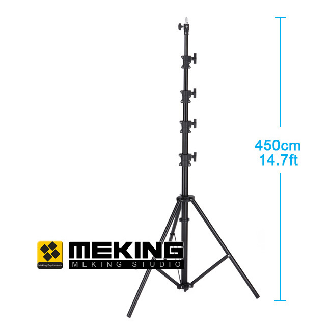 Meking 450cm/15ft Light Stand support system tripod MZ-4800FP Air Cushion Lightstand load capacity 5kg jb300 pro premium grade light stand 2 8m stand with air cushion professional air cushioned light stand no00dc