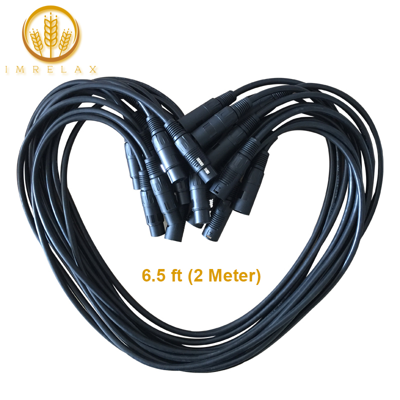IMRELAX 10pcs 6 5 feet 2 Meter Length DMX Cable Stage Light Cable Wires with 3