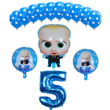 14pcs Boss Baby Balloon 30 inch Number Foil