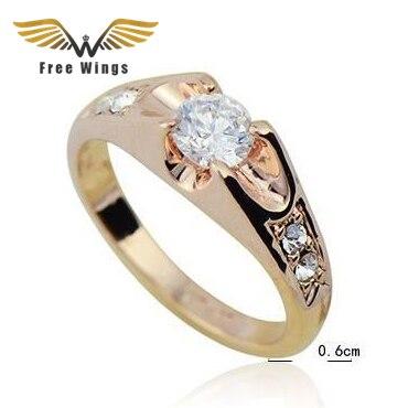 7b0383135634 2016 moda CZ anillos mujeres joyería Punk marca joyería de cristal anillos  para las mujeres Bague Femme Bijoux B7.7 R043 ABC