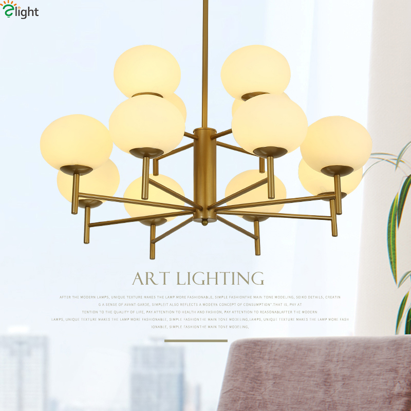 Modern Glass Ball Led Pendant Chandelier Lights Metal Living Room Led Chandeliers Lighting Bedroom Led Hanging Light Fixtures modern lustre crystal led chandelier lighting chrome metal living room led pendant chandeliers light led hanging lights fixtures