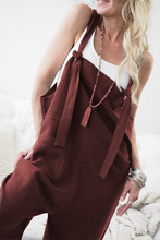Casual Loose Linen Cotton Jumpsuit