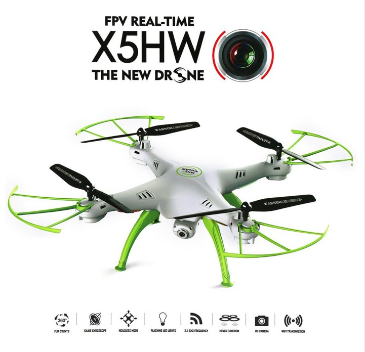 SYMA X5HW FPV RC Drone Quadcopter with WIFI Camera 2.4G 6-Axis X5SW Upgrade RC Helicopter syma x5hw fpv rc quadcopter rc drone with wifi camera 2 4g 6 axis vs syma x5sw upgrade drones rc helicopter toys with 5 battery