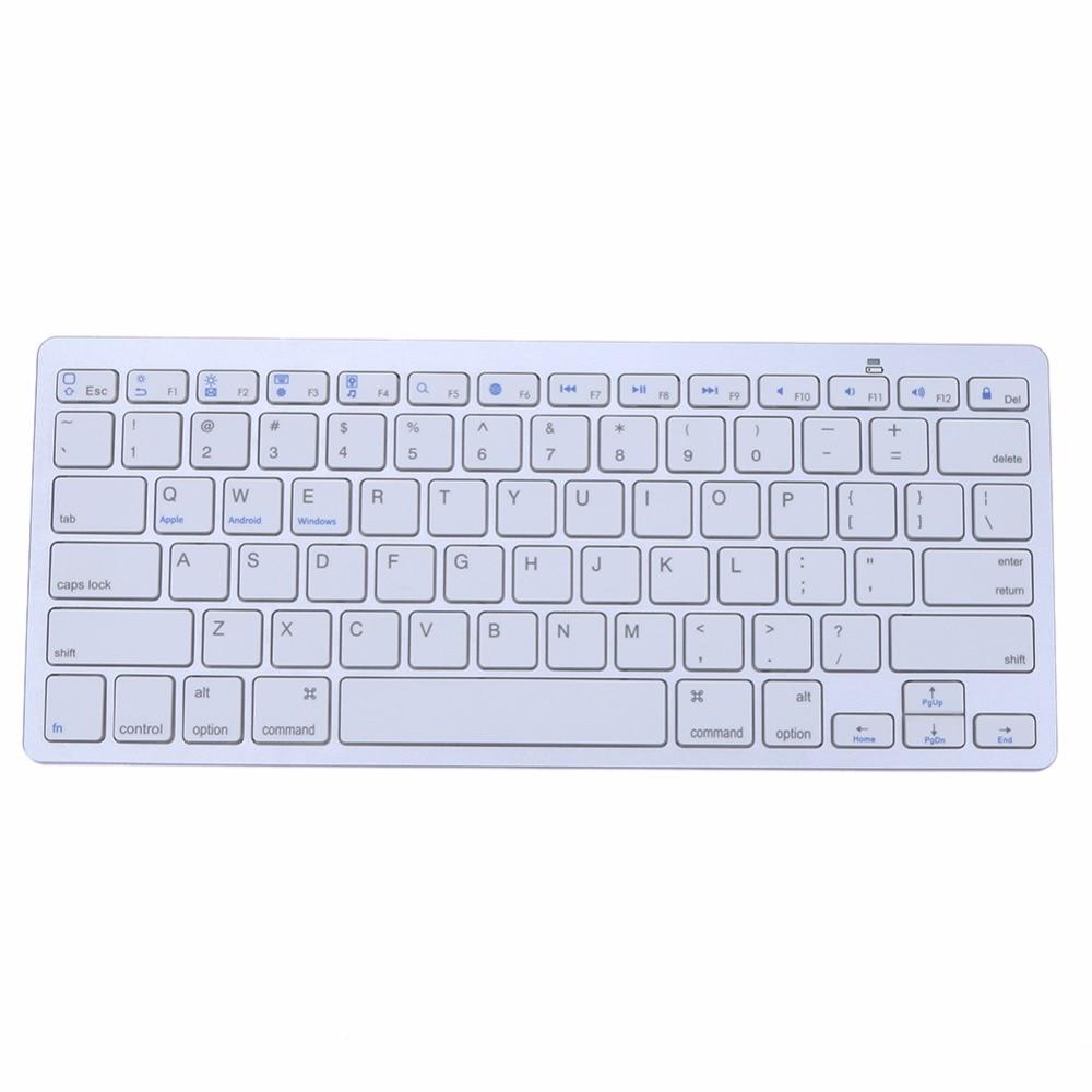 Ultra slim Wireless Keyboard Bluetooth 3 0 Wireless Keyboard for PCs or Laptops Support for Windows