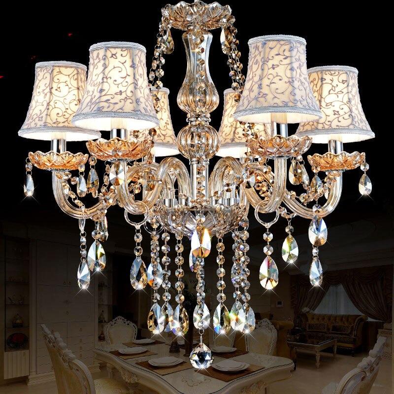 Lustres de cristal de Iluminação Lustre moderno K9 moderne Quarto iluminação lustre para casa Cozinha Sala de Jantar lâmpada lustre de Cristal
