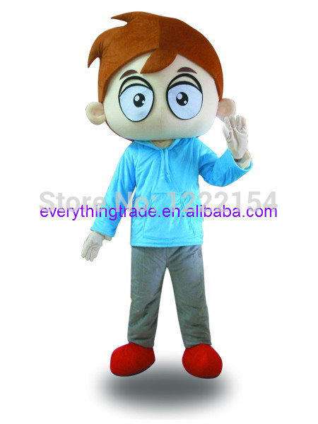 Hot Sale 2017 Cartoon Character Adult Cute Big Eyes Boy Mascot