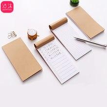 Bloco de notas bloco de notas papel kraft bolso bloco de notas papelaria scrapbooking notas para fazer lista rasgo checklist