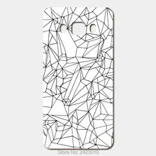 High Quality Cell phone case For Samsung Galaxy 2016 J5 J7 J3 J1 A3 A5 A7 Case Hard PC Cracked White Marble Patterned Cover