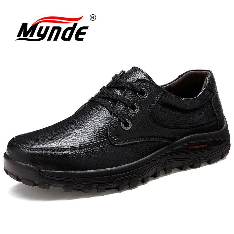 2020 Top Leather Autumn Winter Men Boots Big Size 38 44 Vintage Style Boots Men Shoes