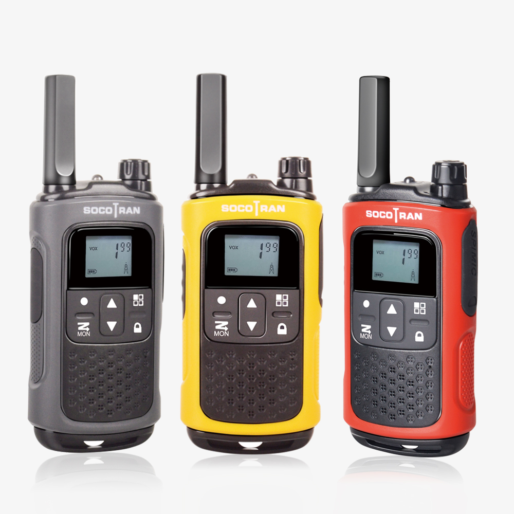 SocoTran PMR 446 License Free Walkie Talkie Scan VOX & Privacy Codes With Rechargeable Battery Ham 2 Way Radio Adults & Kids Use