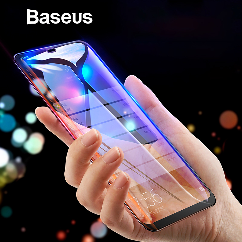 Baseus 0,3mm de vidrio templado para iPhone Xs Max XR Protector de pantalla completa cobertura de protección de vidrio para iPhone X xs Max 2018