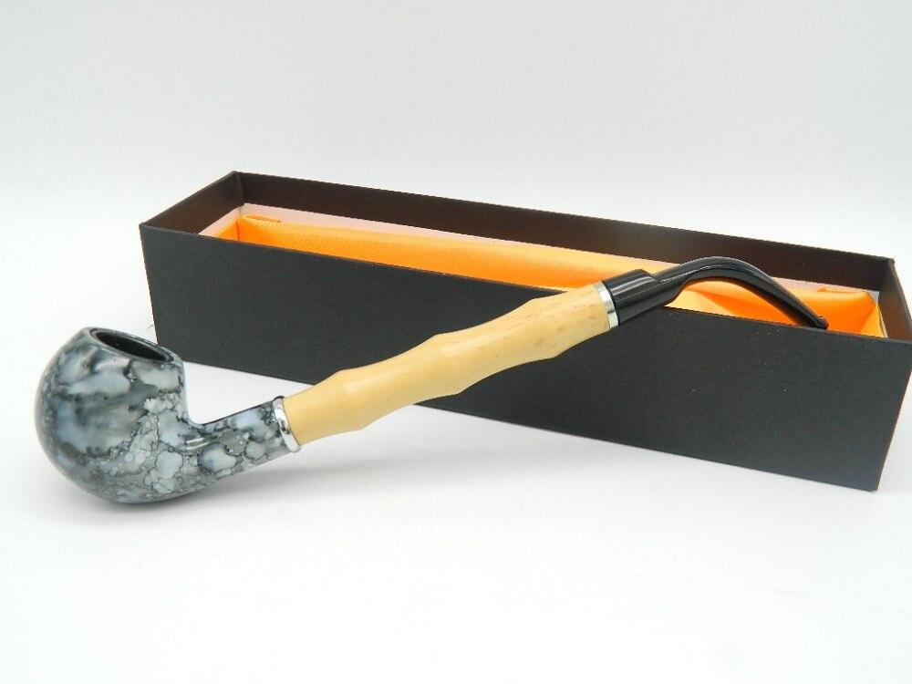 1ks středně modrá mramorová pryskyřice enchase kouření dýmky - Výrobky pro domácnost