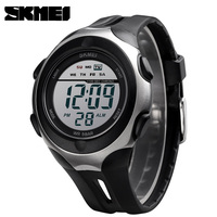 SKMEI 2019 NEW Mens Sports Digital Watches 50M Waterproof Electronic Wristwatches Military Silicone LED Watch Relogio Masculino