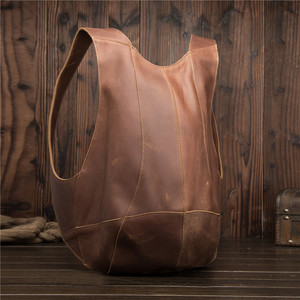 Image 3 - 2108 Man Woman Backpack Genuine Leather Shoulder Anti theft Back Zipper Ipad Phone Pocket Pouch Business Travel Mochila Gifts