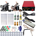 Professional Tattoo kits Complete Equipment rotary Tattoo Set 2  Machine Gun 3 Color Inks Power Supply Cord Kit Body Beauty