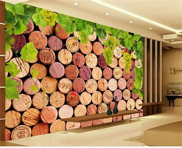 3d Photo Wallpaper Personalizzato Soggiorno Murale Bottiglia Di Vino