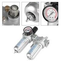 G1/2 Inch Air Compressor Filter Oil Water Separator Trap Tools with Regulator Gauge SLC88