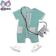Neugeborenes Baby Jungen Kleidung Baby Strampler 2018 Sommer Neue Mode Gentleman Baumwolle Infant Einteilige Kleidung Für Kleinkind Kostüm