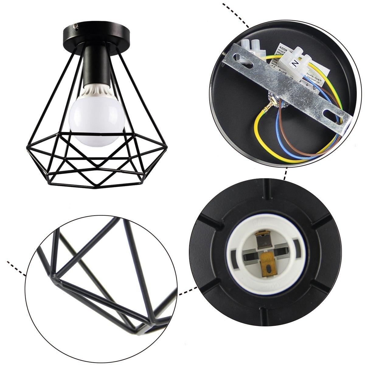 HTB1OOg8lHsrBKNjSZFpq6AXhFXa0 Vintage Industrial Rustic Flush Mount Ceiling Light Metal Lamp Fixture American-style village Style Creative Retro Light Lamps