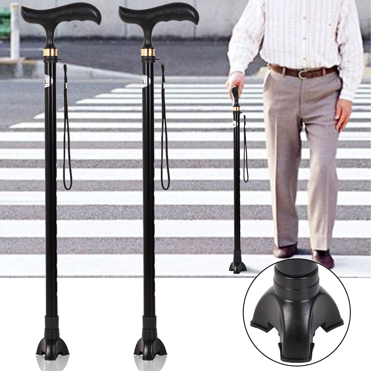 Canes Crutch Leg Rubber Self Standing Walking Stick Tripod Tip End Cap Non-slip Protecter Tools