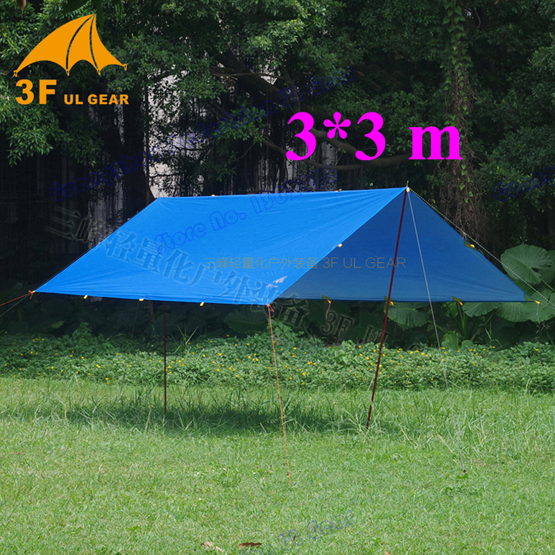 3 3m 210T with silver coating 3F UL Gear outdoor tarp shelter high quality beach awning